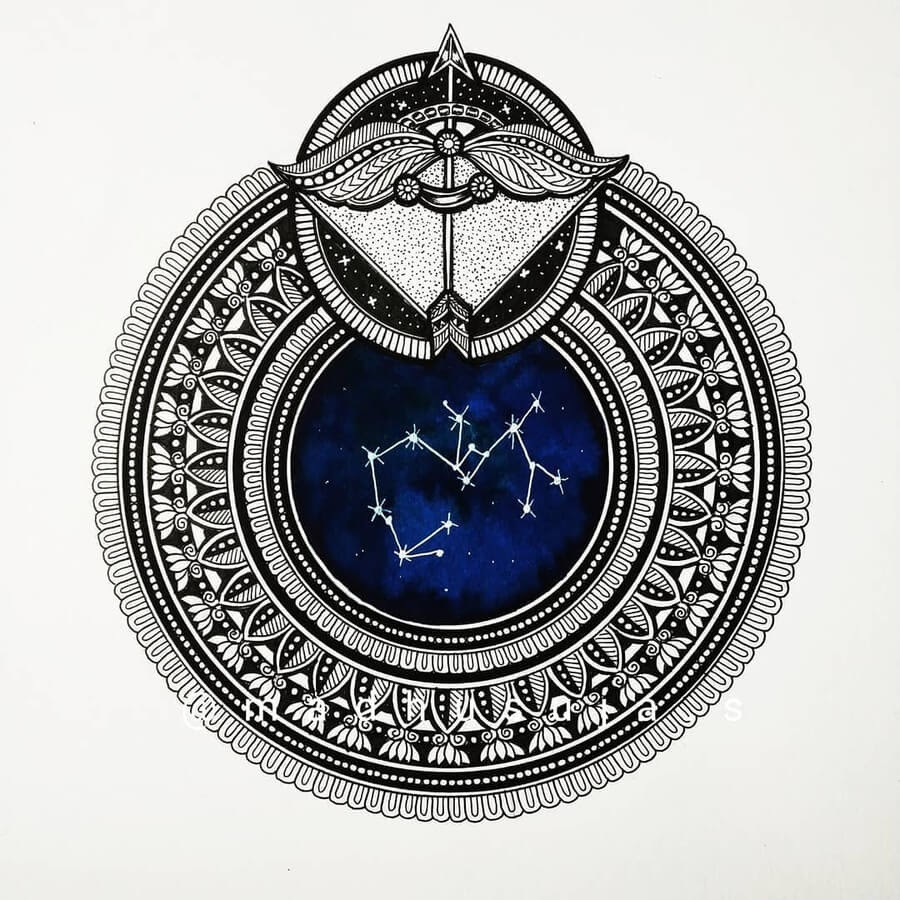 09-Zodiac-sign-Sagittarius-Madhusuja-www-designstack-co