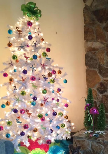White Coastal Beach Christmas Tree Ideas
