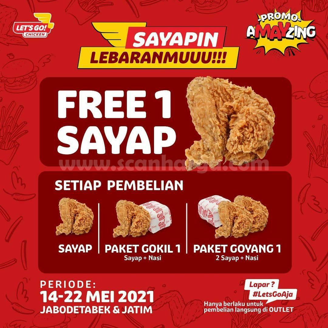 Let's Go! Chicken Promo Lebaran - Gratis 1 Sayap setiap pembelian Paket tertentu