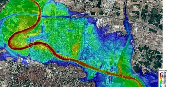Zaragoza ocupa la llanura aluvial