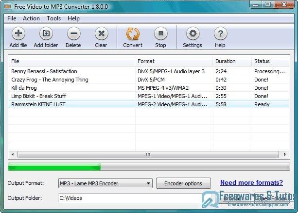 Abyssmedia free video to mp3 converter un logiciel - Logiciel pour couper musique mp3 gratuit ...