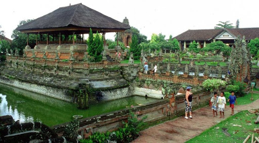 Klungkung Royal Palace in Bali exotic piece of Balinese architecture