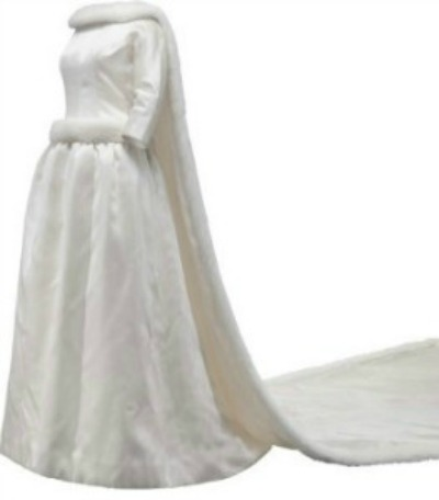 Wedding gown designed by Cristobal Balenciaga for the future Queen of Belgium Fabiola de Mora y Aragon Wedding