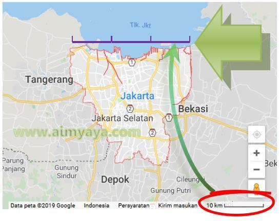 Gambar: Contoh Penggunaan Skala Batang pada Peta