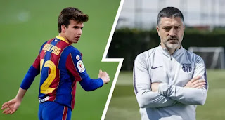 Barcelona B team coach Pimienta sends strong message to Puig in fight for first-team place