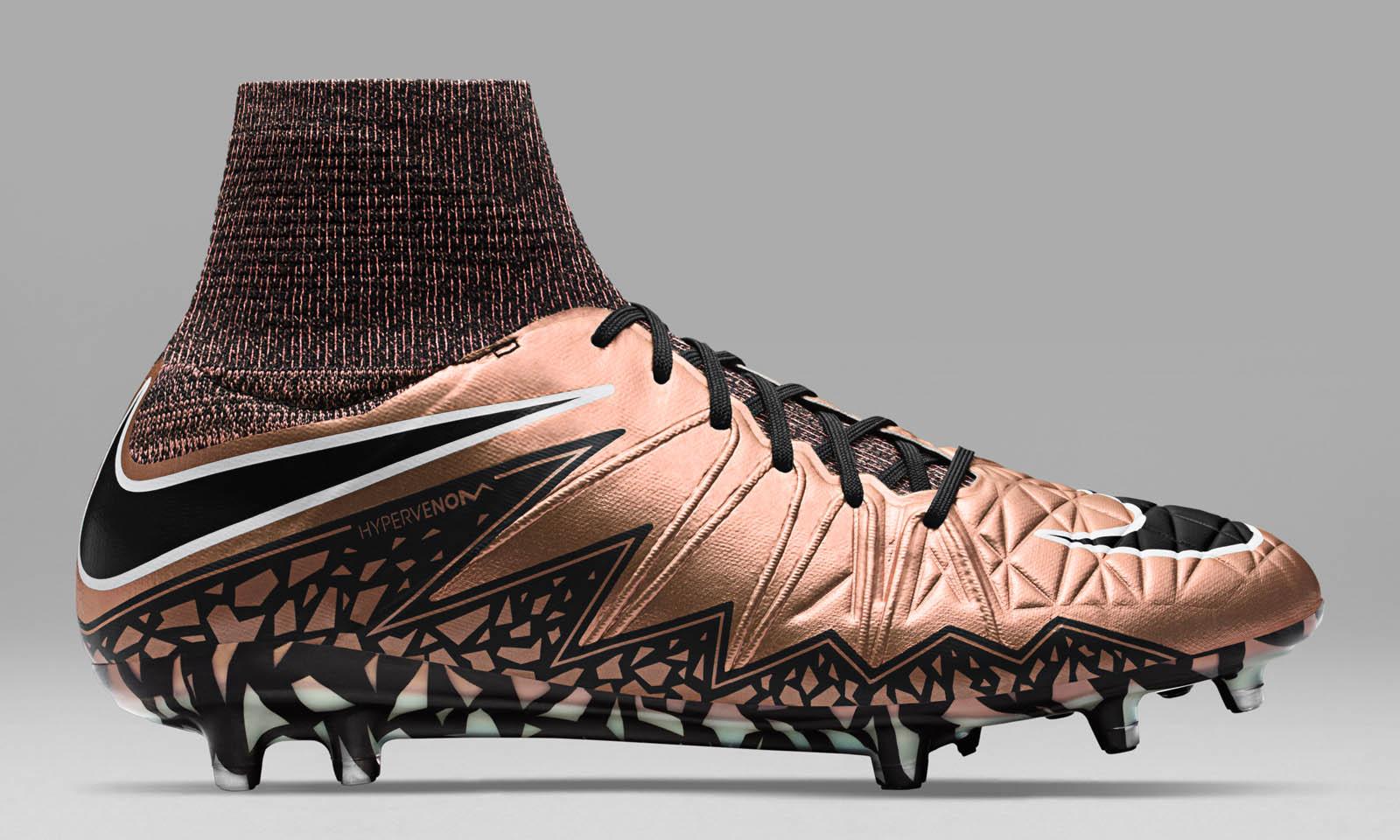 brand new 8f84f 4a874 ... Socken Nike Hypervenom Phantom II Bronze  Schwarz  Türkis ...