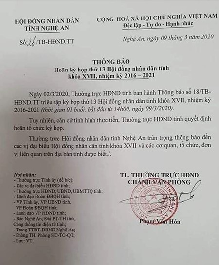 Cách ly tại nhà lãnh đạo tỉnh Nghệ An tiếp xúc Bộ trưởng Nguyễn Chí Dũng ngày 6/3, sự thật...