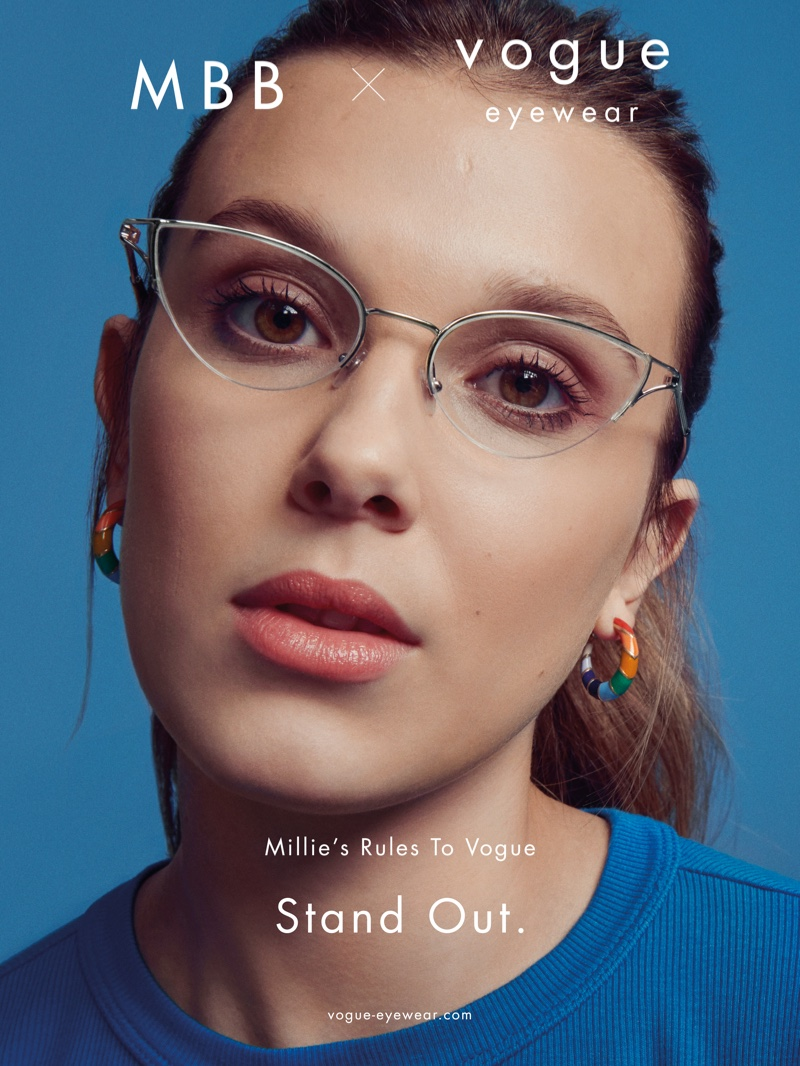 Millie Bobby Brown stars in MBB x Vogue Eyewear drop 2 campaign.