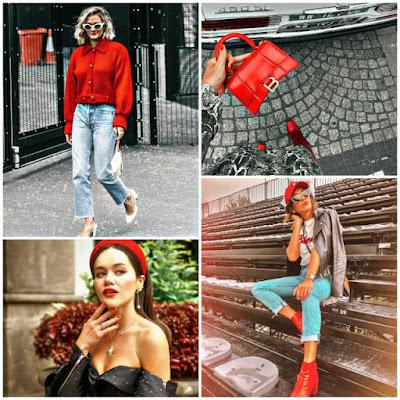 Tonalidades rojo tendencia moda