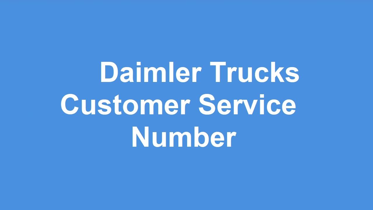 Daimler Trucks Customer Service Number