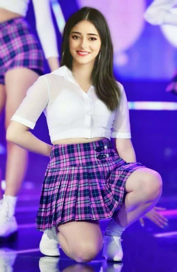 Ananya Pandey thighs, ananya pandey short dress, ananya pandey legs