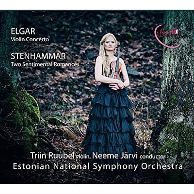 Elgar Violin Concerto, Stenhammar Two Sentimental Romances; Triin Ruubel, Estonian National Symphony Orchestra, Neeme Järvi; SOREL CLASSICS