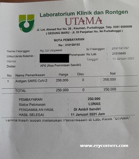 Biaya swab antigen