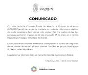Determina Comisión de Víctimas en Guerrero ayuda inmediata a esposas y madres de los 10 músicos asesinados en Chilapa