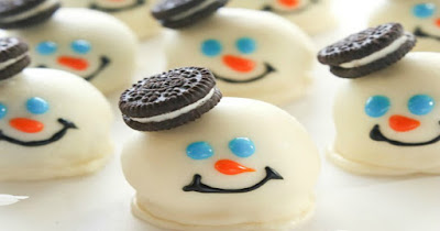 συνταγές με μπισκότα ορεο χιονάνθρωποι τρούφες