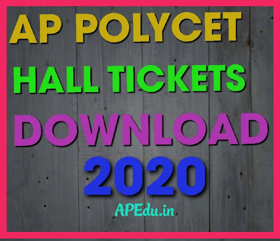 AP POLYCET  HALL TICKETS-2020 DOWNLOAD