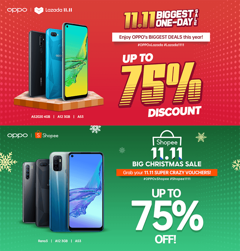 Deal: OPPO's 11.11 discounts on Shopee and Lazada, up to 75 percent discount offered!