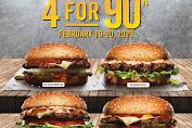 Carls Jr Promo Paket Burger 4 For 9K Makan Hemat Berempat Hanya Rp.90.000