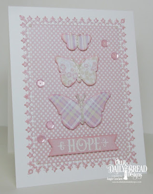 ODBD Grace's Hope, ODBD Custom Lavish Layers Dies, ODBD Custom Tres Papillons Dies, ODBD Easter Card Collection 2016, ODBD Pastel Paper Pack, Card Designer Angie Crockett
