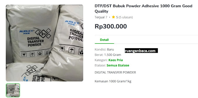 DTF DST Bubuk Powder Adhesive 1000 Gram Good Quality