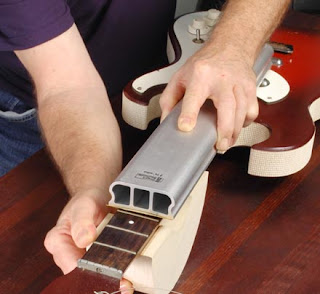image Setting up necks for radius level-Haywire Custom Guitars