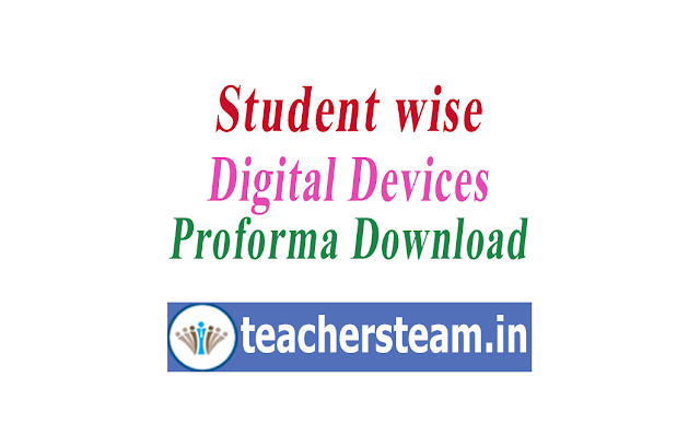 student wise digital devices details proforma submit to MRC