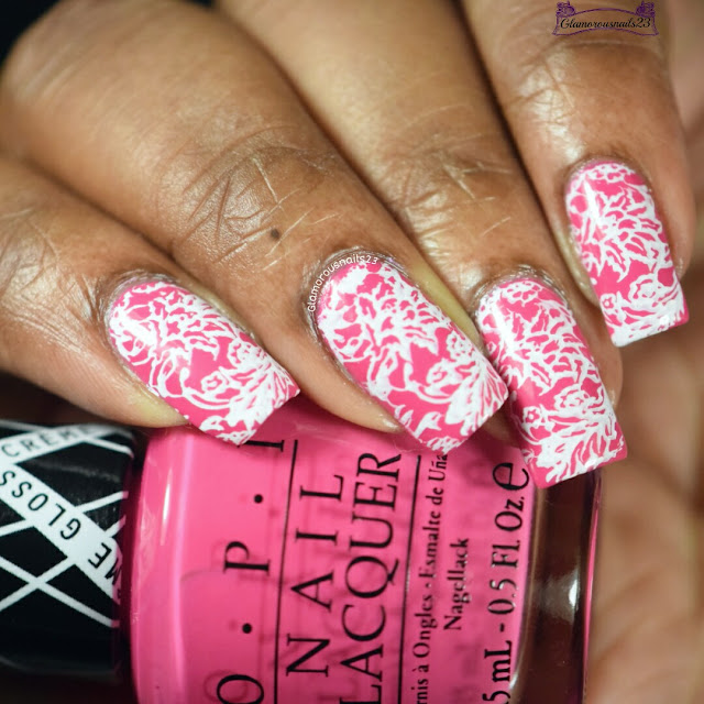 Lace Stamping Nail Art