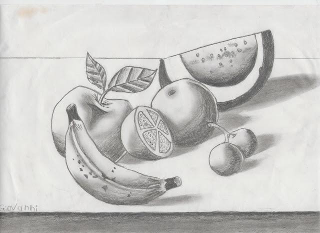 Bodegones De Frutas Faciles De Dibujar A Lapiz