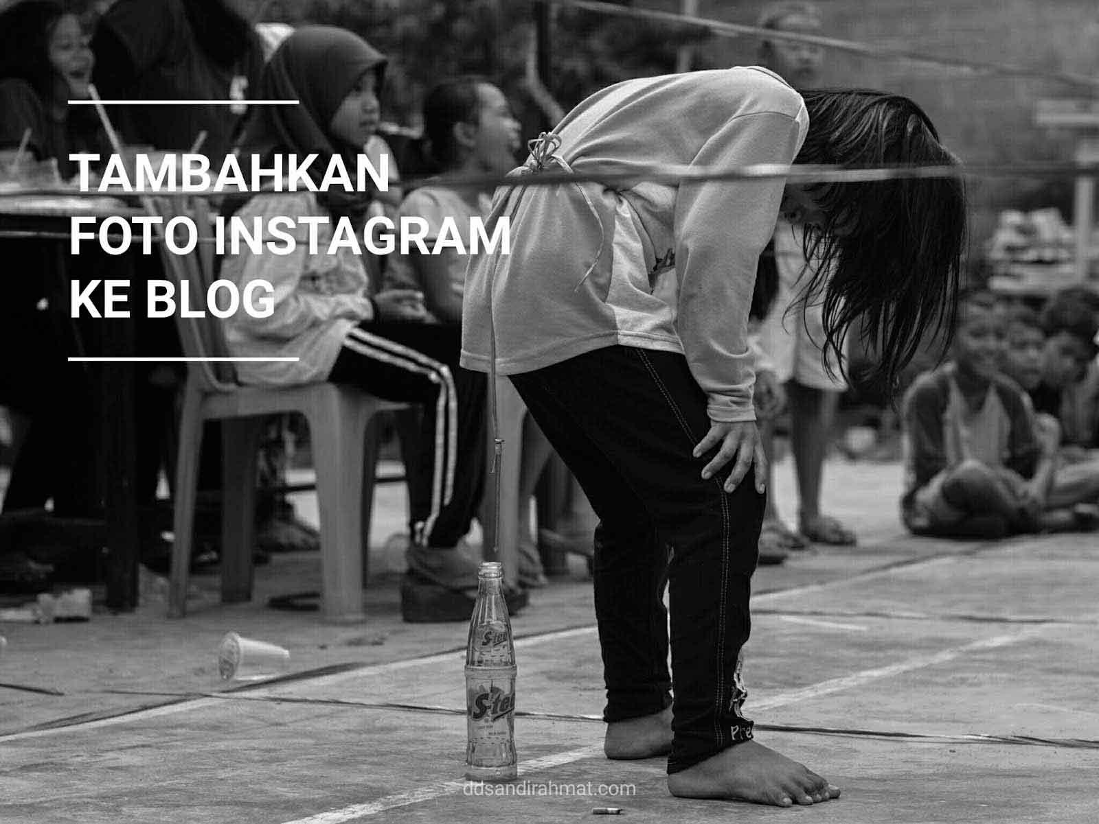 Cara Sisipkan (Embed) Foto Instagram ke Postingan Blog