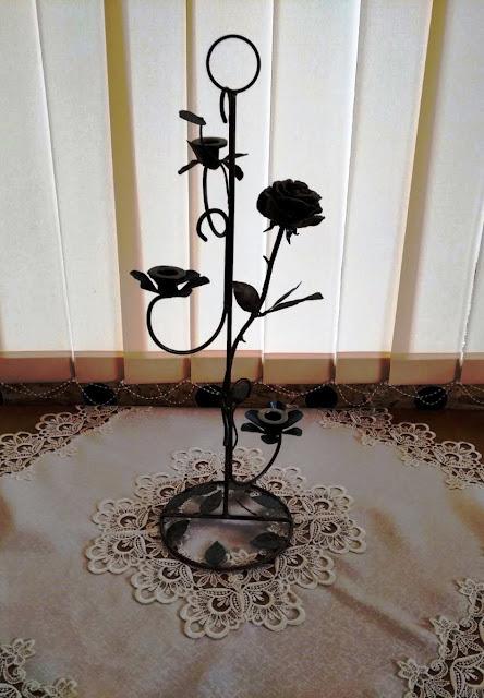 Підсвічник троянда на 3 свічки