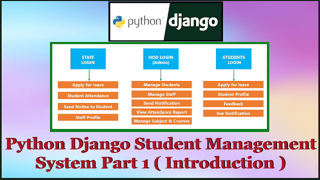 Python Django Student Management System Part 1 | Introduction