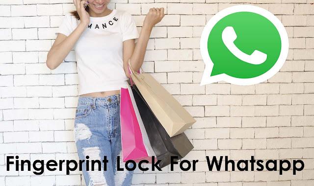 Enable fingerprint lock for whatsapp in Hindi