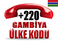 +220 Gambiya ülke telefon kodu
