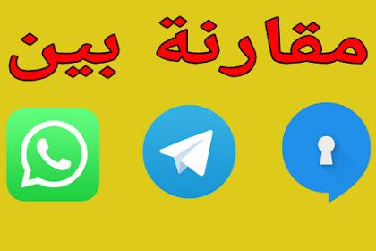 مقارنة تفصيلية بين تطبيقات WhatsApp و Telegram و Signal أيهم أمن مع اهم المميزات