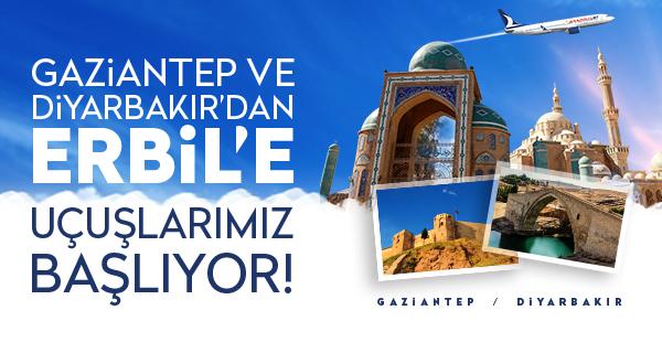 Gaziantep - Erbil Uçak Seferleri