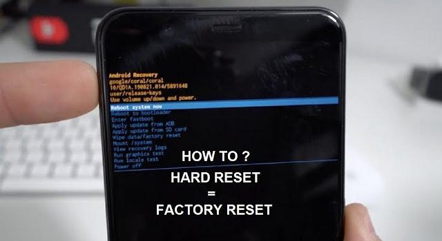 Hard Reset Google Pixel Buttons
