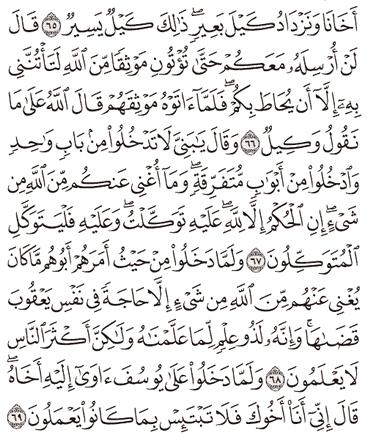 Tafsir Surat Yusuf Ayat 66, 67, 68, 69, 70