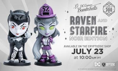 SDCC 2021 Cryptozoic DC Lil Bombshells Raven & Starfire Noir Edition Vinyl Figures 01