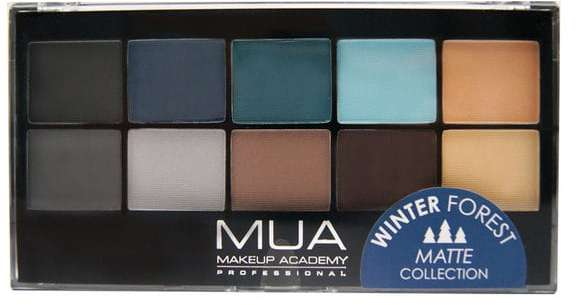 MUA eyeshadow palette in Winter Forest