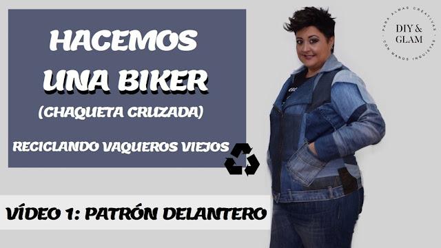 Patrón delantero biker, chaqueta cruzada