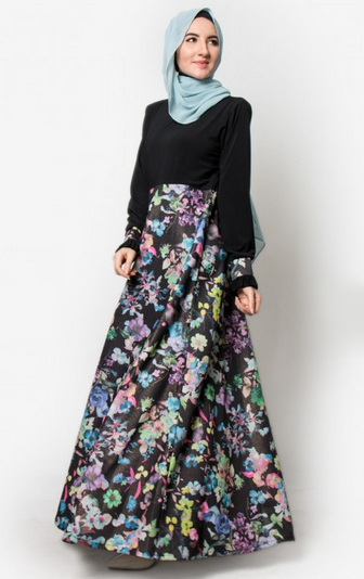 20 model gamis batik kombinasi terbaru 2018 Model baju gamis batik muslimah terbaru