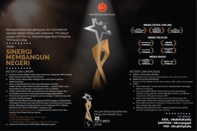 Lomba Karya Jurnalistik Panglima TNI Award 2019