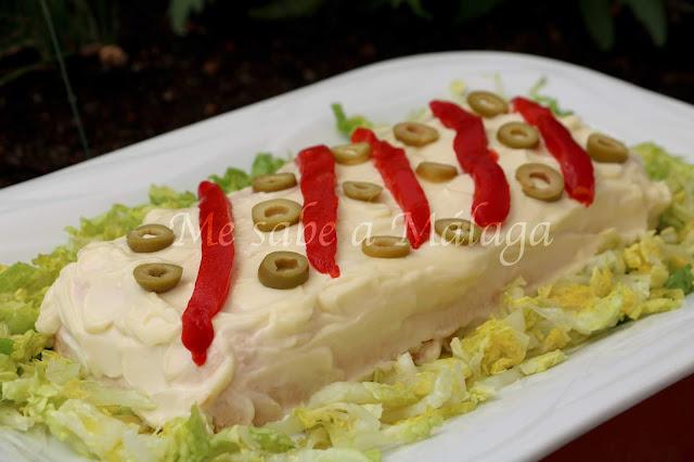 receta de pastel frío de atún