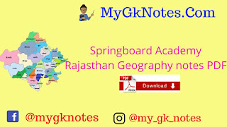 Springboard Academy Rajasthan Geography notes PDF