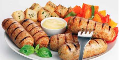 Mayonnaise Grilled Sausages