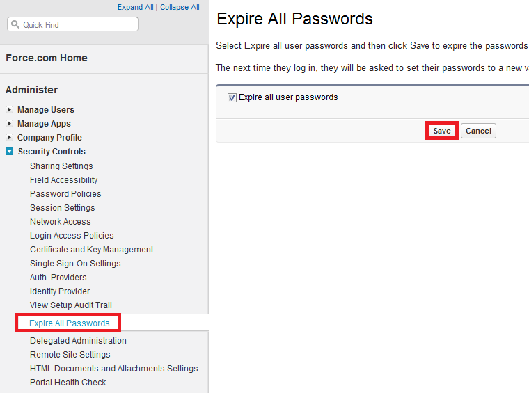 Infallible Techie: How to expire all users password in