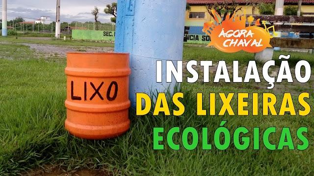 Coletivo Ágora Chaval instala lixeiras ecológicas nas praças da cidade