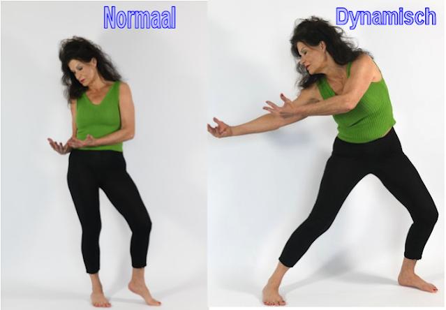 een normale versus een dynamische stand