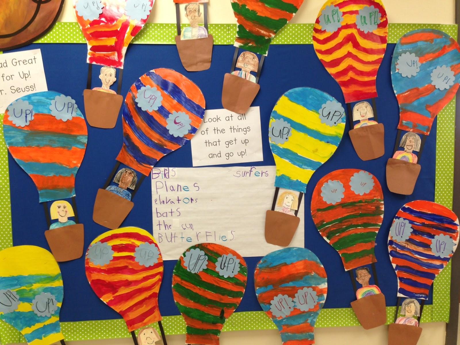 Chalk Talk A Kindergarten Blog Hot Air Balloons