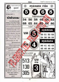 Thai lottery VIP First Paper Magazines For 16-06-2018